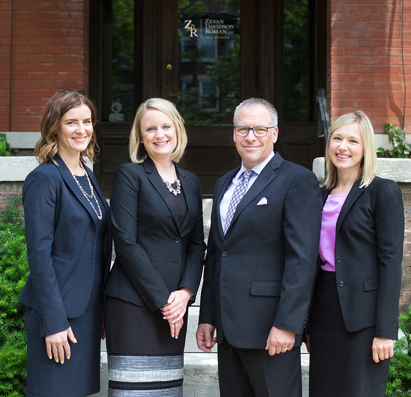 David Zevan, Rachel Roman, Morgan Murphy, and Anna Haber - medical malpractice and personal injury attorneys at Zevan Davidson Roman.