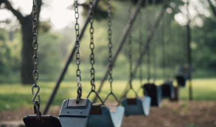 A swing set at a park presents dangers of premises liability.